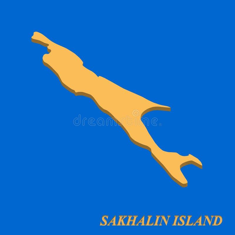 传染媒介的萨哈林岛海岛 库存例证