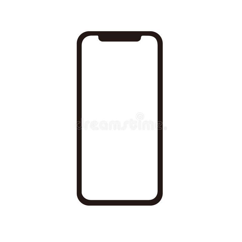 传染媒介的Iphone x象 向量例证