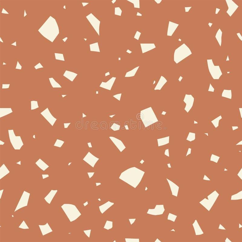 传染媒介磨石子地纹理,摘要淡色无缝的样式 经典意大利背景 库存例证