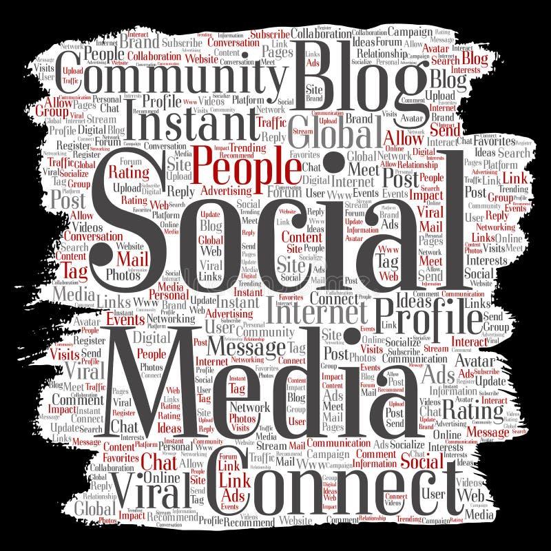 传染媒介社会媒介网络或通信网 库存例证