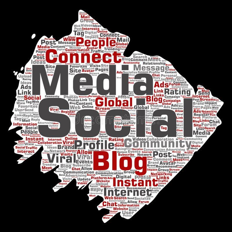 传染媒介社会媒介网络或通信 向量例证
