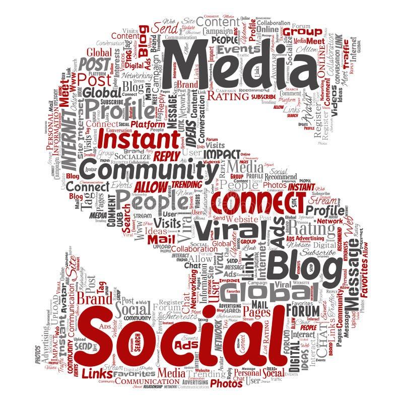 传染媒介社会媒介网络通信网 向量例证