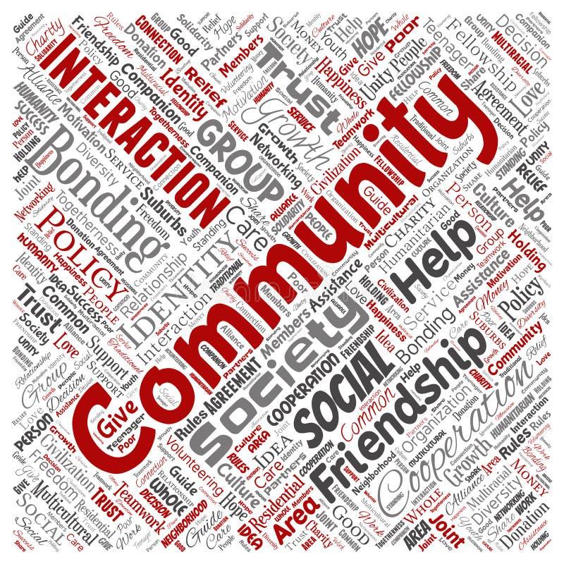 传染媒介社区,社交,连接 向量例证