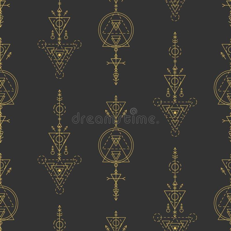 传染媒介神圣的几何无缝的样式 皇族释放例证