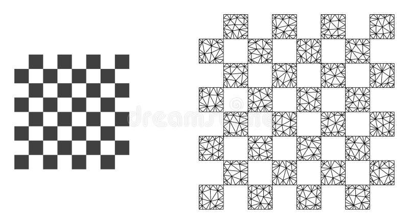 传染媒介第2个滤网棋盘和平的象 库存例证