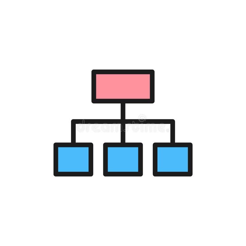 传染媒介等级制度的图结构平的颜色象 皇族释放例证