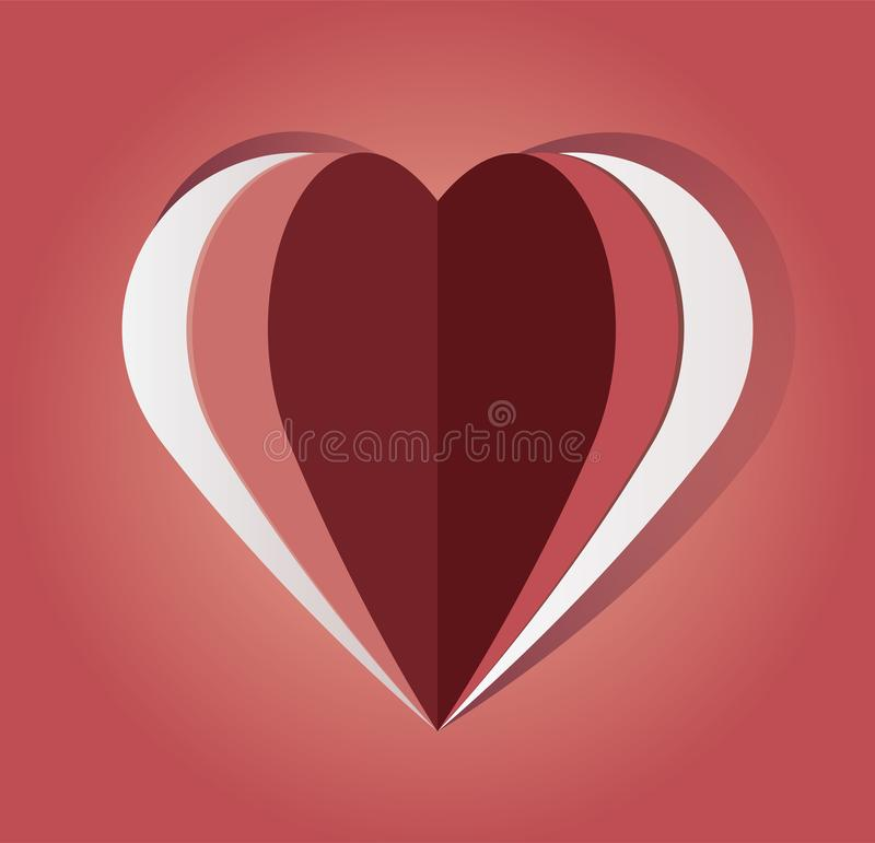 传染媒介纸被删去的心脏 库存例证