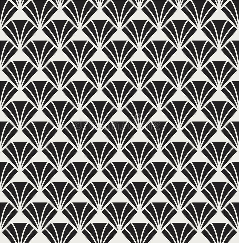 传染媒介经典金刚石艺术nouveau无缝的样式 时髦的抽象派deco纹理 库存例证