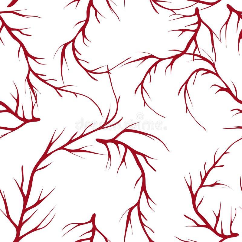 传染媒介绘了与手拉的元素的树早午餐无缝的样式背景 皇族释放例证