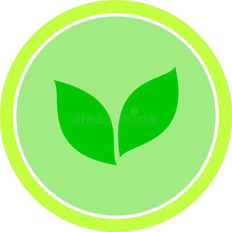 传染媒介绿色eco标志自然生物素食主义者 免版税库存图片