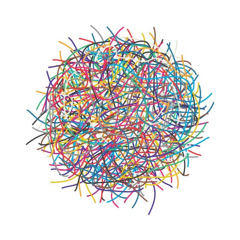 传染媒介缠结了导线或缆绳 库存例证