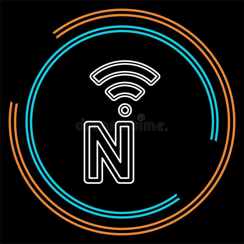 传染媒介网络象-网络概念 库存例证
