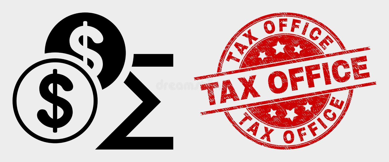 传染媒介美元总和象和难看的东西税务局水印 向量例证