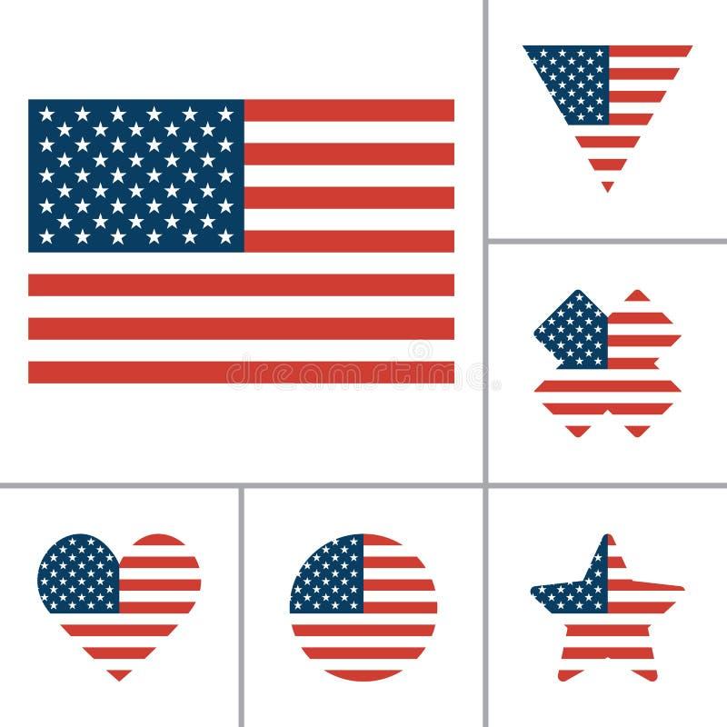 传染媒介美国旗子象 库存例证