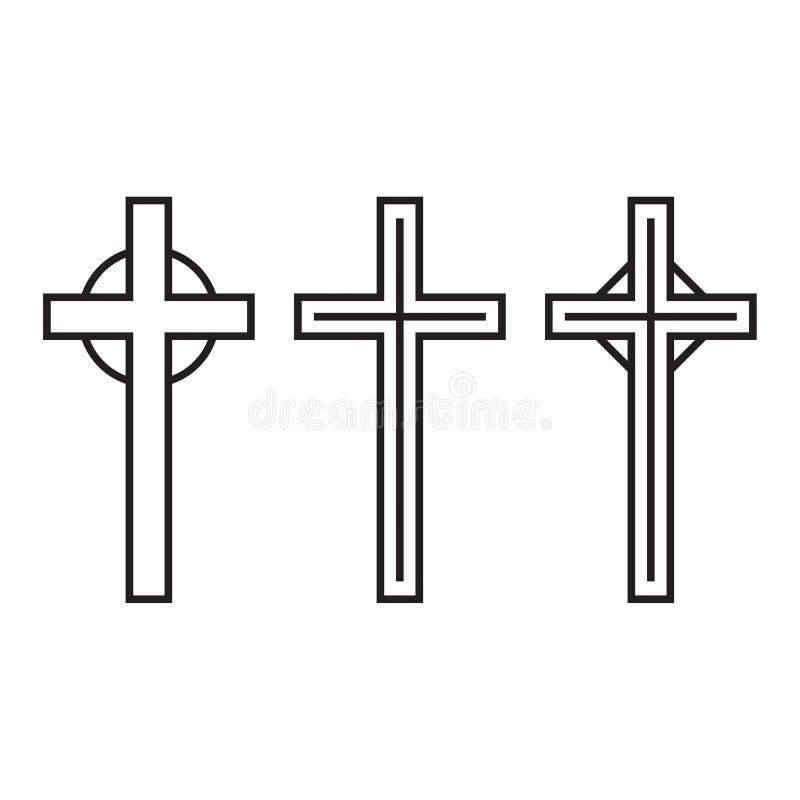 传染媒介耶稣受难象十字架 向量例证