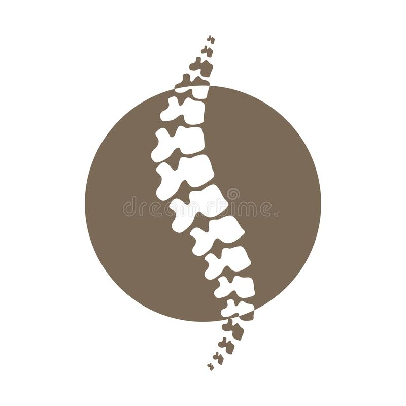 传染媒介脊椎被隔绝的剪影例证 库存例证