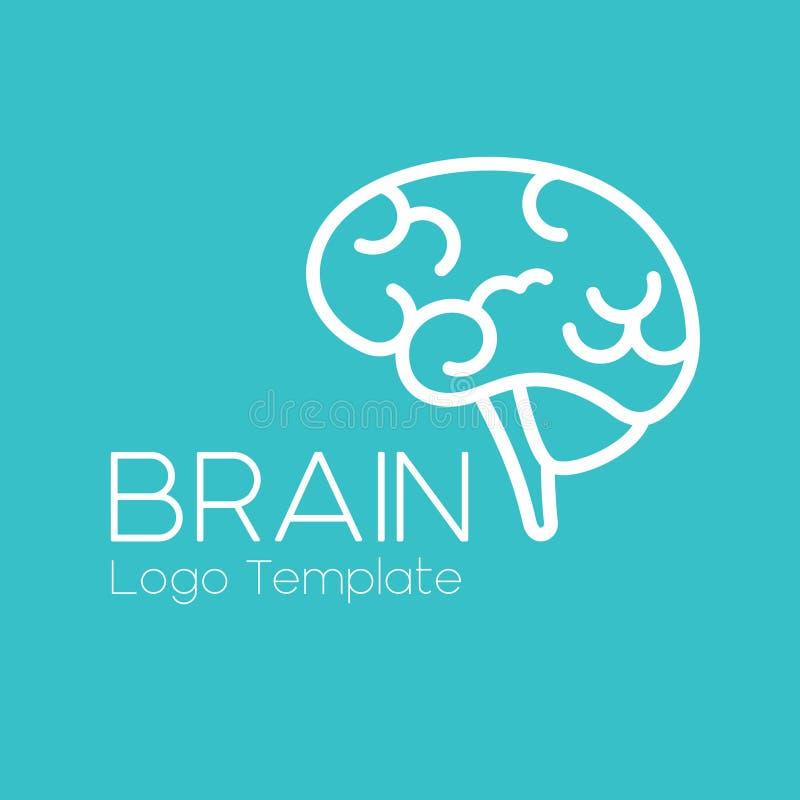 传染媒介脑子商标模板 库存例证