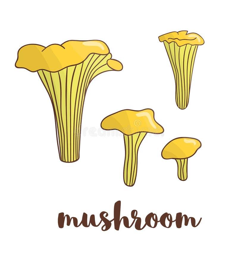 传染媒介色的蘑菇象 皇族释放例证