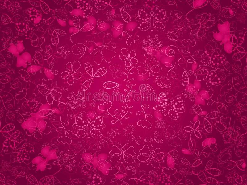 传染媒介花无缝的样式背景 背景的典雅的纹理 古典豪华古板的花饰, seamle 库存例证