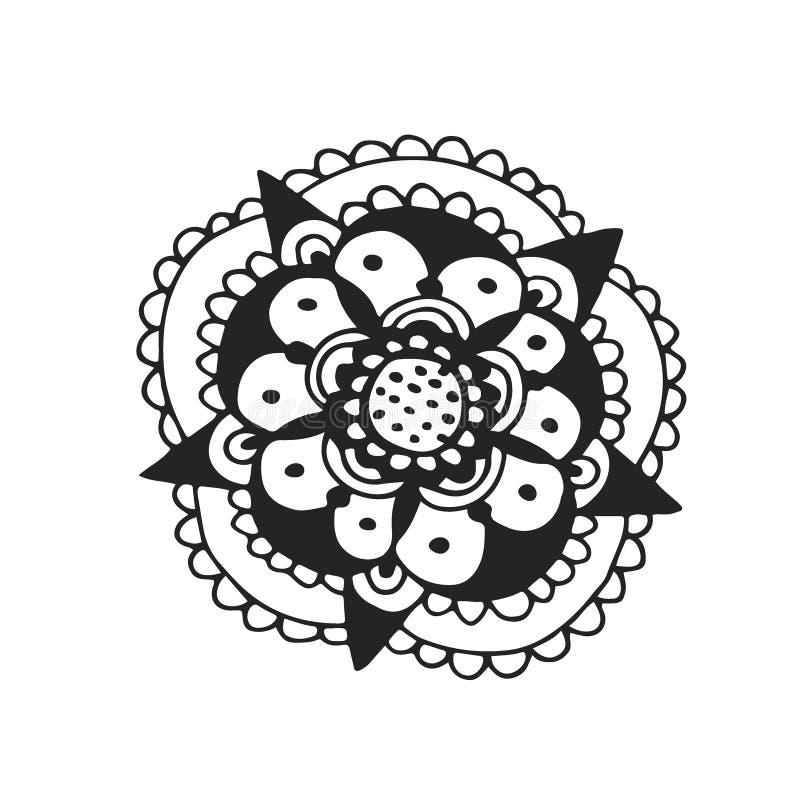 传染媒介花纹身花刺艺术 T恤杉印刷品设计 向量例证