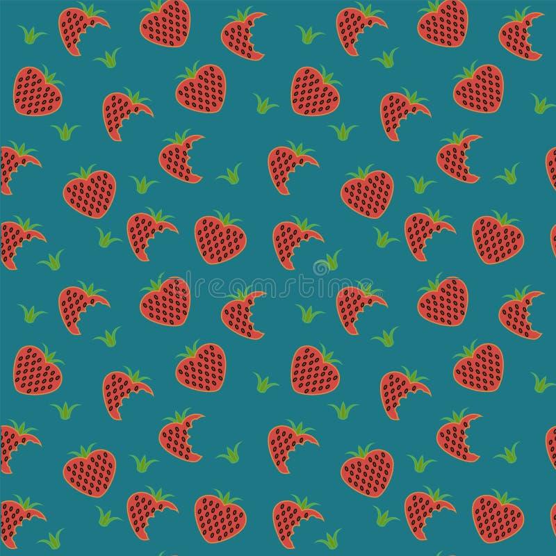 传染媒介草莓 库存例证