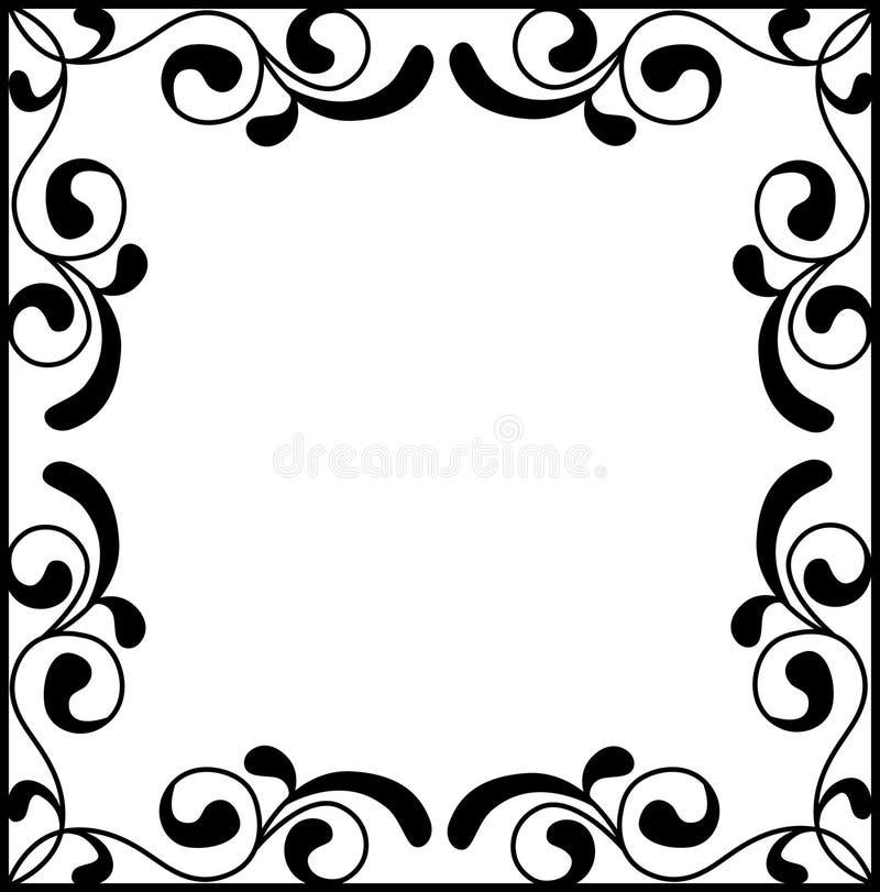 传染媒介葡萄酒边界与减速火箭的装饰品的框架板刻 向量例证