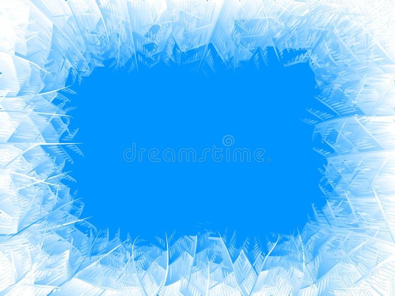 传染媒介蓝色霜框架 向量例证