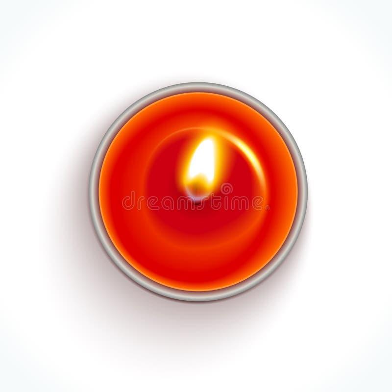 传染媒介蜡烛 库存例证
