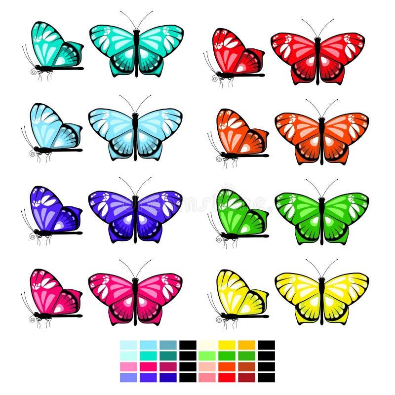 传染媒介蝴蝶设置了1 皇族释放例证