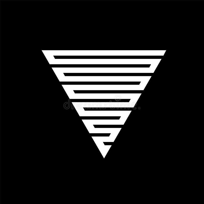 传染媒介行家三角背景 用不同的元素的海报 抽象几何海报 设计现代模板 皇族释放例证