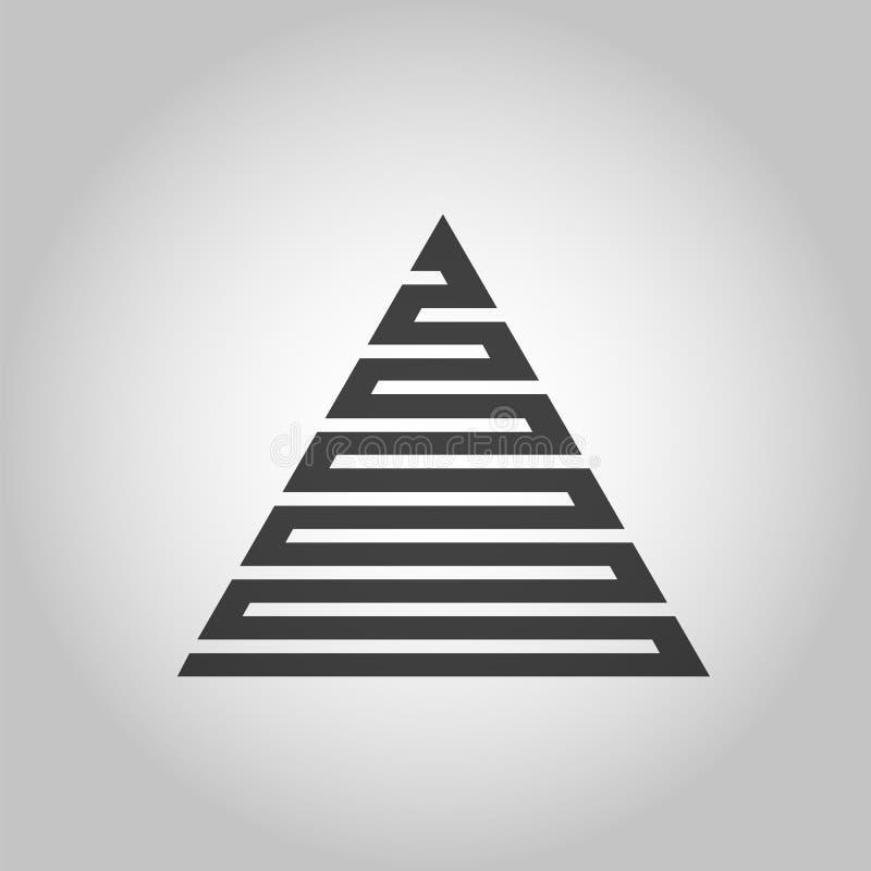 传染媒介行家三角背景 用不同的元素的海报 抽象几何海报 设计现代模板 库存例证