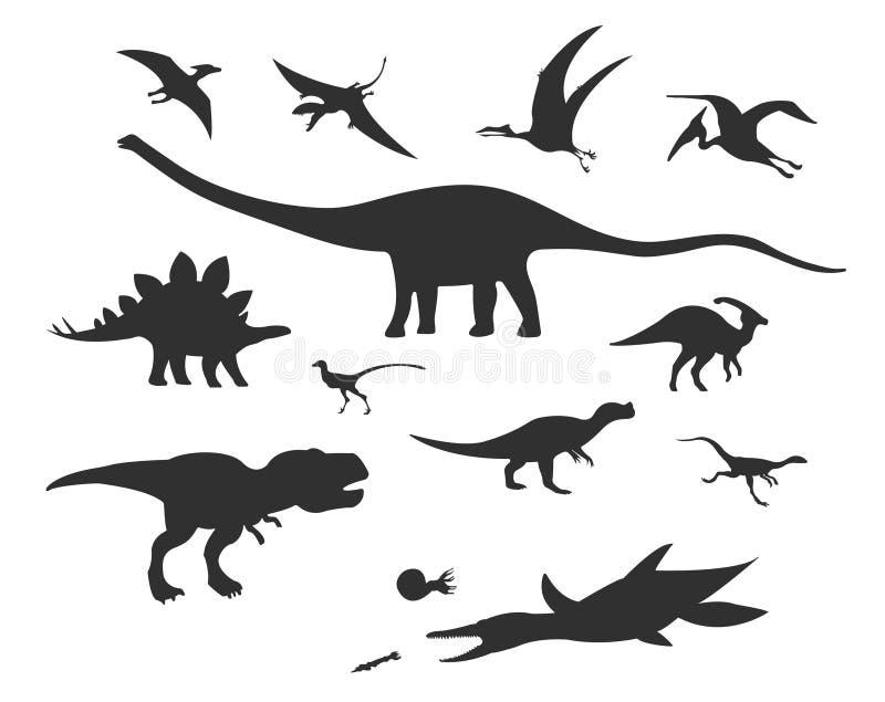 传染媒介被设置不同的逗人喜爱的动画片恐龙 皇族释放例证