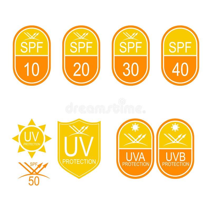 传染媒介设置了象SPF 向量例证