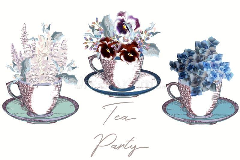 传染媒介设计的葡萄酒杯子的汇集 皇族释放例证