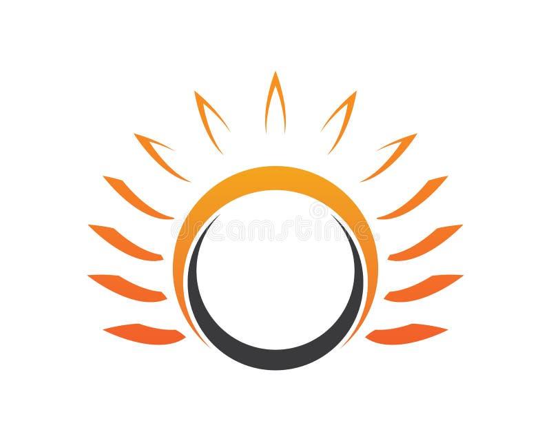 传染媒介象在天际的商标模板太阳 皇族释放例证