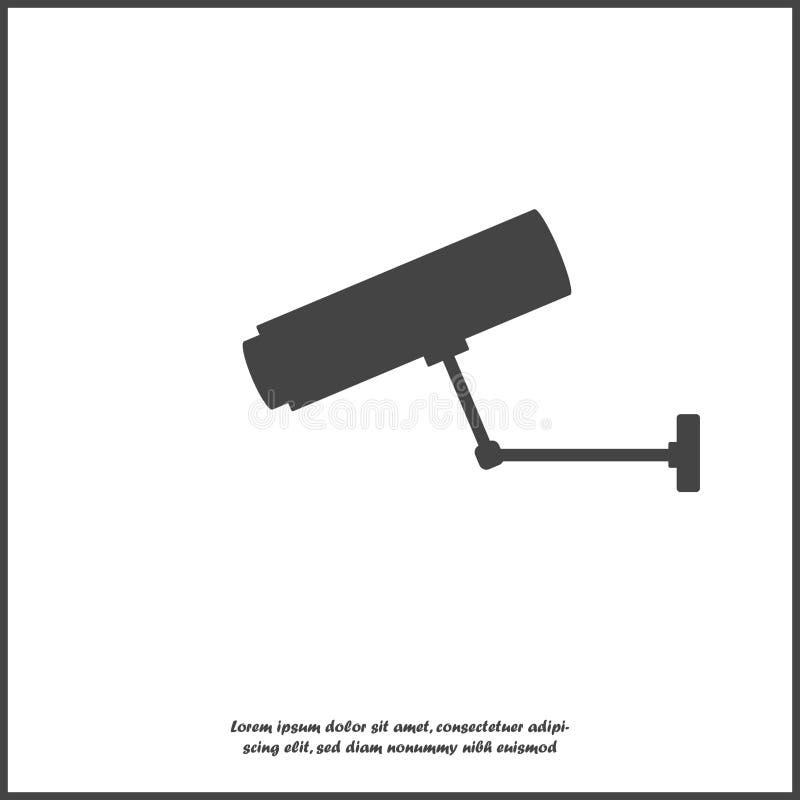 传染媒介象在白色被隔绝的背景的安全监控相机例证 为容易的编辑例证编组的层数 对您 皇族释放例证
