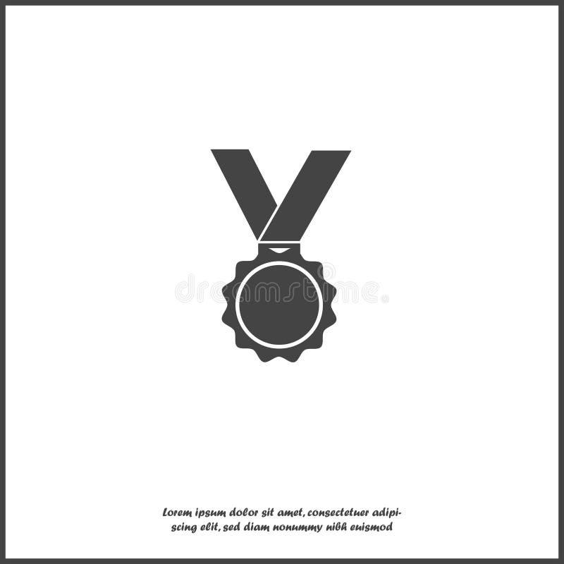 传染媒介象奖牌 荣誉勋章,白色被隔绝的背景的祝贺 为容易的编辑例证编组的层数 库存例证