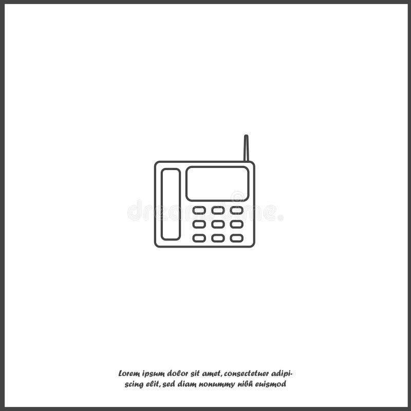 传染媒介象有按钮的输送路线电话在白色被隔绝的背景 库存例证