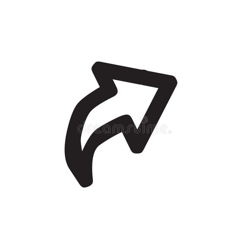传染媒介象的箭头 这环绕了平的标志画与在白色背景的黑色 库存例证