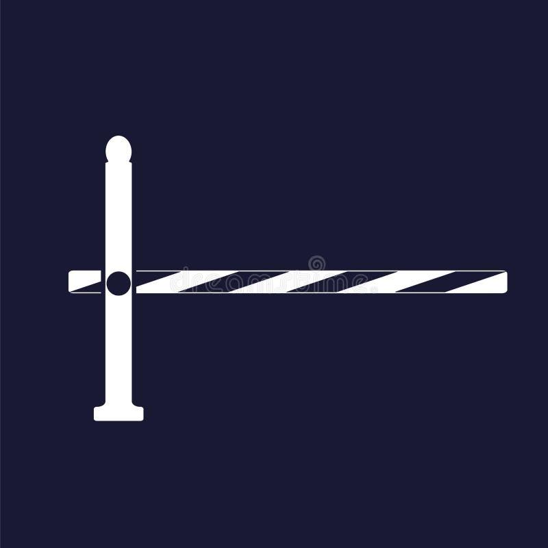 传染媒介象障碍 路障碍 在黑暗的传染媒介白色象 向量例证