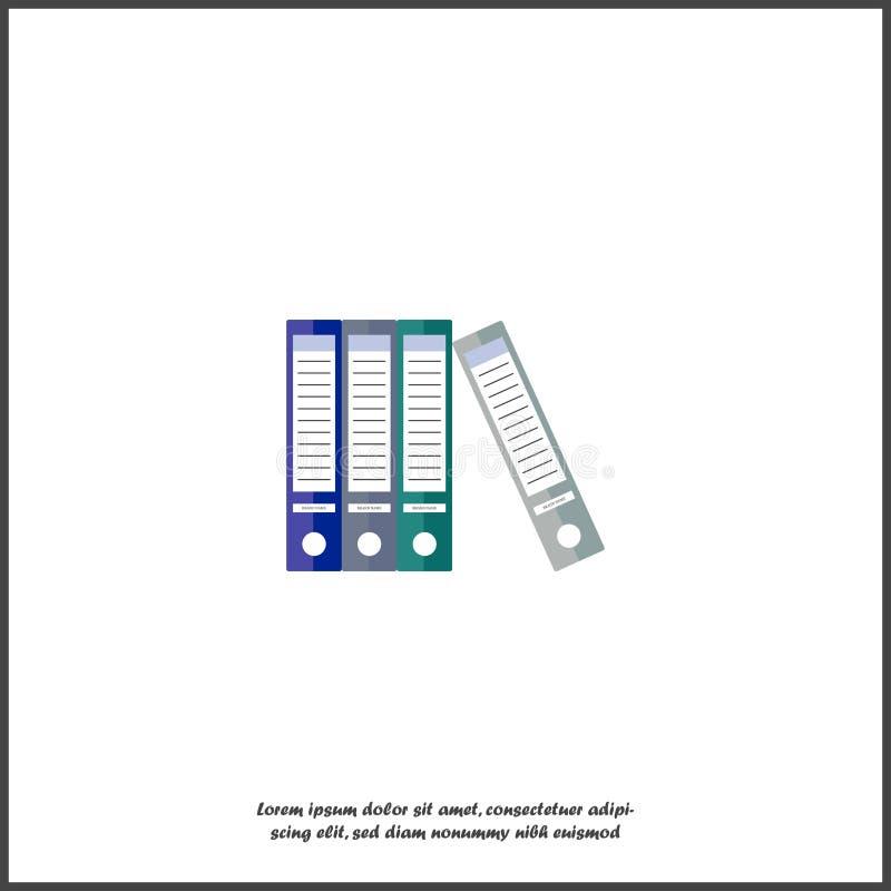 传染媒介象颜色档案文件夹圆环包扎工具 办公室生活的标志 向量例证