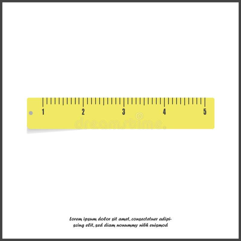 传染媒介象黄色统治者 公制 学校测量的长矛 评定的磁带 在白色被隔绝的背景的卷尺 层 皇族释放例证