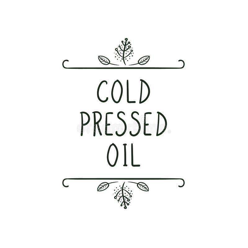传染媒介象:经冷压制作过的油 向量例证