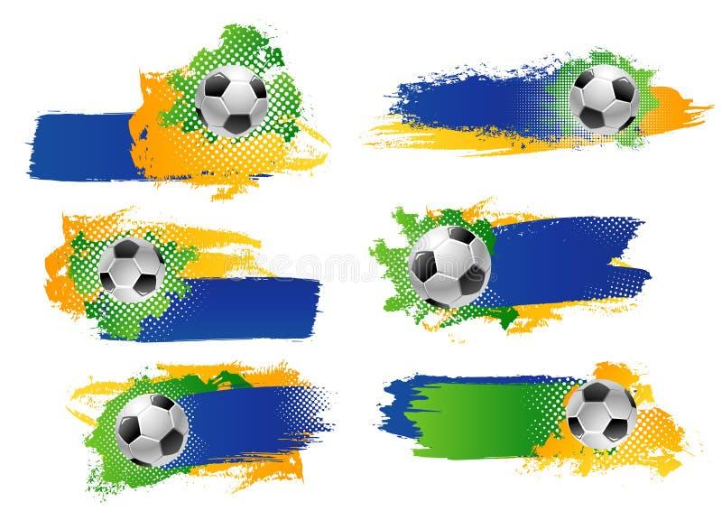 传染媒介足球橄榄球球体育比赛背景 库存例证