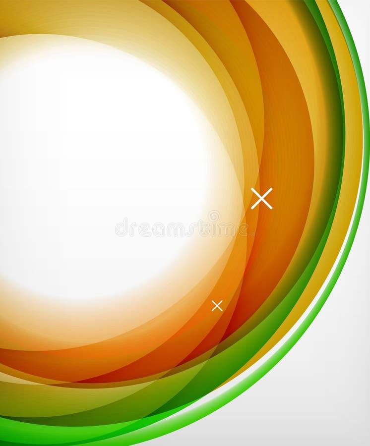 传染媒介透明颜色波浪排行抽象背景,光滑的玻璃波浪,导航抽象背景,发光的光 向量例证