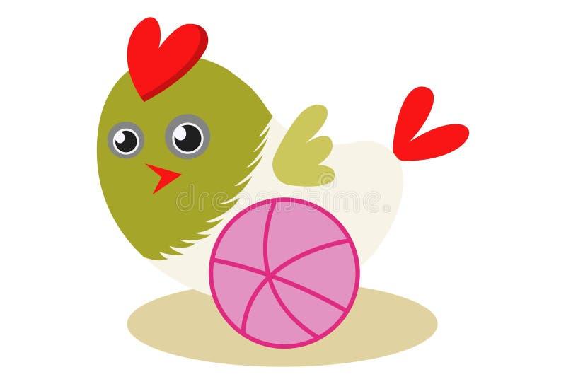 传染媒介逗人喜爱的五颜六色的鸟的动画片例证 库存例证
