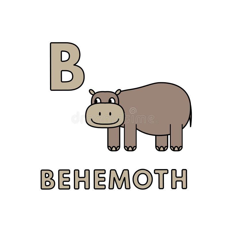 传染媒介逗人喜爱的动画片动物字母表 巨兽例证 库存例证