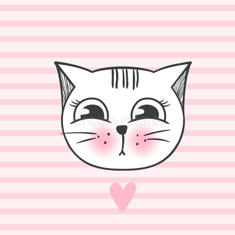传染媒介逗人喜爱的时尚猫 时髦的小猫 乱画全部赌注 皇族释放例证