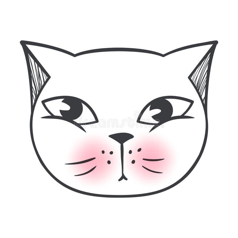 传染媒介逗人喜爱的时尚猫 时髦的小猫 乱画全部赌注 库存例证