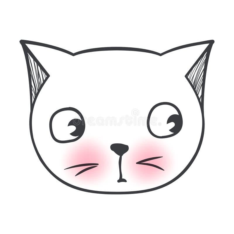 传染媒介逗人喜爱的时尚猫 时髦的小猫 乱画全部赌注 向量例证
